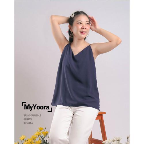 Foto Produk Basic Camisole Tanktop Tank Top Wanita BL1082 - Navy, All Size dari MyYoora Official Store