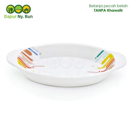 Foto Produk Mangkok Saji Bentuk Oval Motif RAINBOW Ukuran 6 Inch dari Dapur Ny.Bun