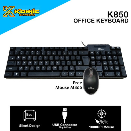 Foto Produk Keyboard Komic K850 dari Komic Official Store