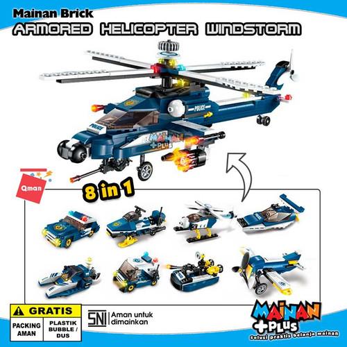 Foto Produk MAINAN BRICK LEGO QMAN HELIKOPTER TEMPUR ARMORED HELICOPTER WINDSTORM dari MainanPlus