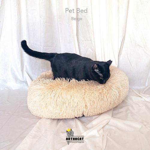 Foto Produk Pet Bed – Kasur Anjing dan Kucing lembut Arthacat - Beige dari arthacat.id