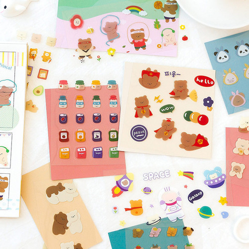 Foto Produk Little Bearbear Diary Deco Stickers - Sticker Unik - Sticker Lucu dari Pinkabulous