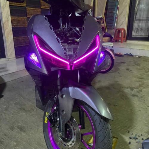 Foto Produk LAMPU LED DRL ALIS HEADLAMP MOBIL MOTOR 12 VOLT 30cm - Putih dari ayra99shop