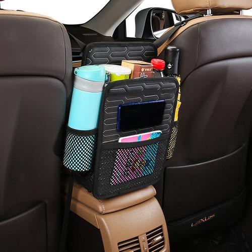 Foto Produk Car Multi Storage Holder Organizer Net Tissue Sampah Jok Tengah Mobil - Hitam dari Gentleman Car