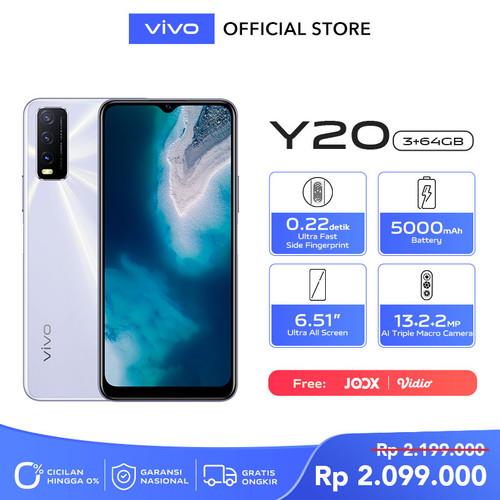 Foto Produk Vivo Y20 [3/64] RAM 3GB ROM 64GB Dawn White dari vivo Indonesia