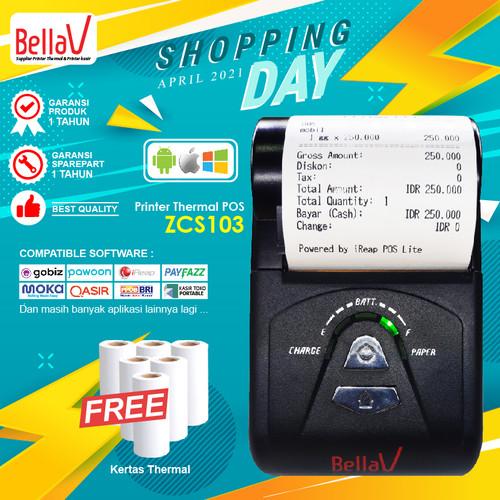 Foto Produk Printer Thermal Bluetooth Kasir BellaV ZCS 103 Support BRILink dari BellaV Official