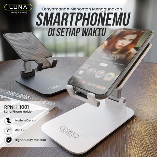 Foto Produk Luna Phone Holder Standing Lipat Hp For iphone / Andorid / Tablet - Putih dari Luna Life