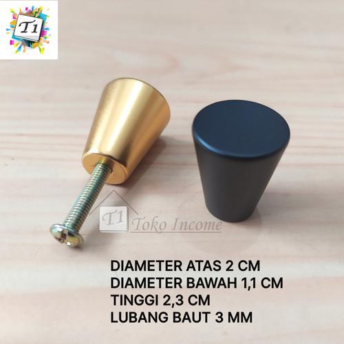 Foto Produk Tarikan 380 Knob Bulat Pentol Black Gold Handle Laci Pintu Lemari dari Toko Income