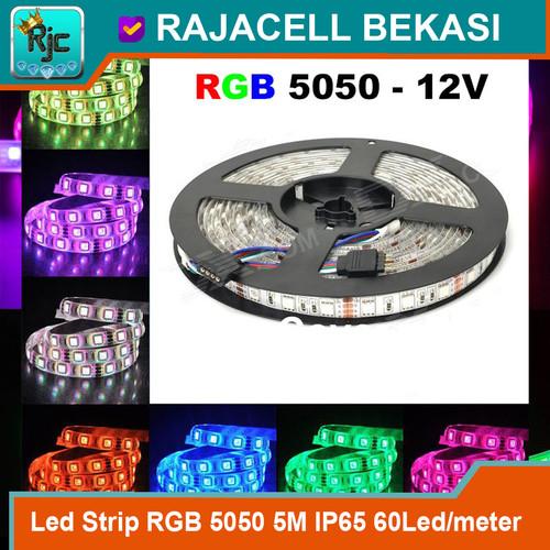 Foto Produk LED Strip RGB SMD 5050 5M Roll 60Led/meter IP65 Waterproof Hi-Quality dari RAJACELL BEKASI
