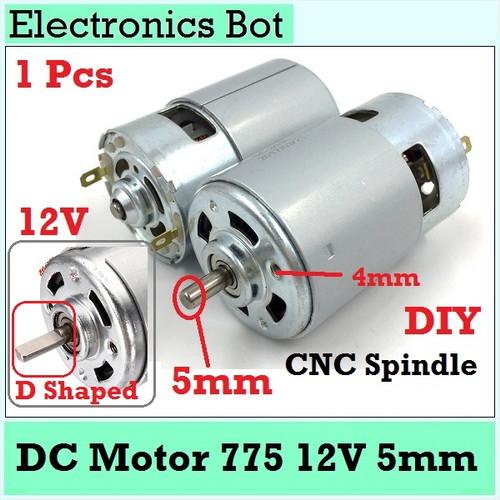 Foto Produk [EBS] Dinamo DC Motor 775 5mm Bor DIY RPM Tinggi Kuat High Speed Power dari Electronics Bot Store