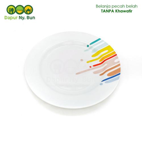 Foto Produk Premium Piring Makan Ceper Motif RAINBOW Ukuran 9 Inch dari Dapur Ny.Bun