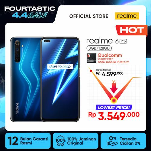 Foto Produk realme 6 Pro 8/128GB [64MP AI Quad Camera, 90Hz Ultra Smooth Display] - Biru dari realme Official Store