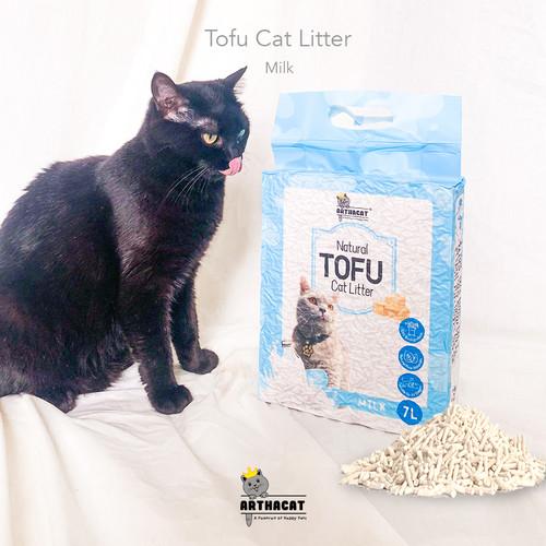 Foto Produk PASIR KUCING GUMPAL SOYA– TOFU CLUMPING CAT LITTER- ARTHACAT - MILK dari arthacat.id