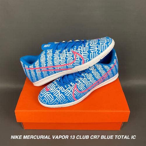 Foto Produk Sepatu Futsal Nike Mercurial V 13 Club CR7 Blue Total IC - 41 dari CS Store id