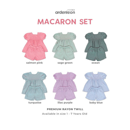 Foto Produk ARDENLEON Macaron Set - Turqoise, M dari ARDENLEON
