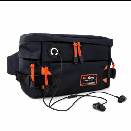 Foto Produk Tas slempang pria tas pinggang waistbag soulderbag - Hitam dari adonishop