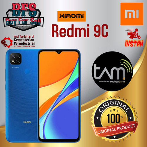 Foto Produk XIAOMI REDMI 9C RAM 4/64GB - GARANSI RESMI - Orange, 3GB 32GB dari BuyForSell