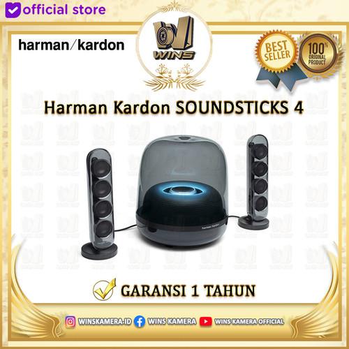 Foto Produk Harman Kardon SoundSticks 4 Bluetooth Wireless 2.1 Channel Speaker - Black dari Wins Kamera
