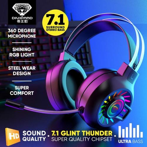 Foto Produk Headset Gaming 7.1 Divipard H540 Headphone Gamers HD Sound+Microphone dari TokoUsbcom