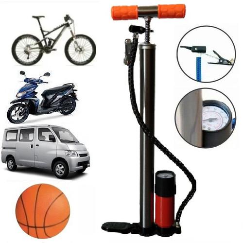 Foto Produk Pompa Ban Pompa Ban Angin Stainless Pompa Sepeda Motor Mobil dari deltashopsurabaya