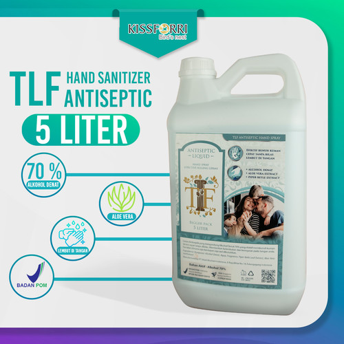 Foto Produk TLF Hand Sanitizer 5 Liter BPOM 70% Alkohol Denat dari Kissforri Official