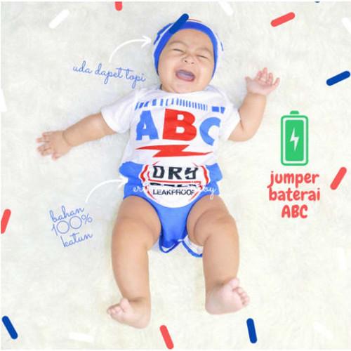 Foto Produk JUMPER BAYI LUCU BAJU BAYI KARAKTER BATERAI BATERE ABC - Ukuran 1 dari Mall-Baby