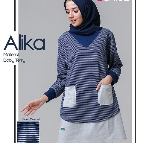 Foto Produk Sale Baju Atasan ORI Nibras Alnita Alika - Navy, M dari Kids Playground