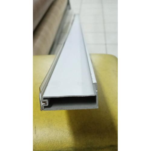 Foto Produk BIG SALE Frame 128 Aluminium Silver Crome 7mm Pintu Panel Lemari Kaca dari WINSTON SUKSES ABADI