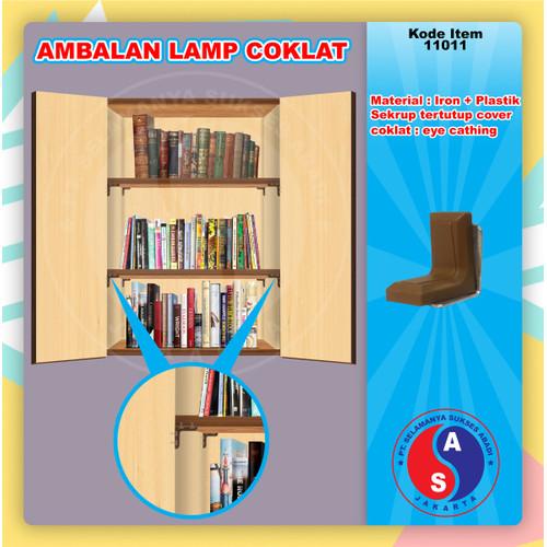 Foto Produk Ambalan Kayu Lamp Coklat Siku L Penyangga Besi Plastik Trapes / 11011 dari WINSTON SUKSES ABADI