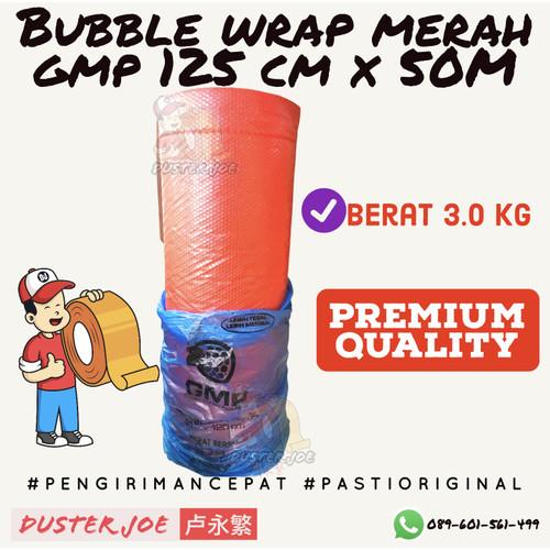 Foto Produk Bubble Wrap Merah GMP 125CM X 50 M Khusus GOSEND / GRAB PER 1 ROLL dari Duster Joe