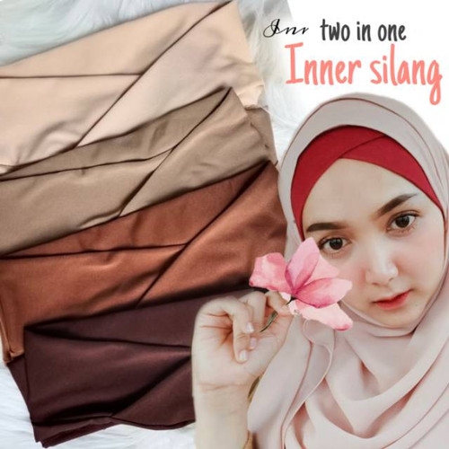 Foto Produk PROMO..!! Ciput Melody inner silang two in one inner silang - maroon dari Adelia.Hijab