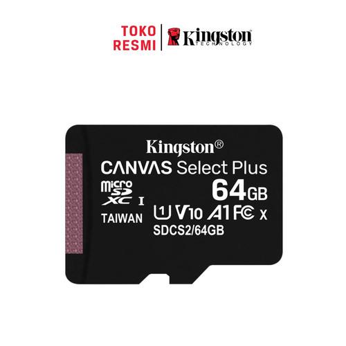 Foto Produk Kingston MicroSD Card Canvas Select Plus Class 10 MicroSDXC 64GB dari Kingston Official Store