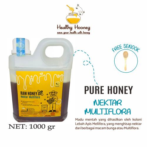Foto Produk Madu Murni Mentah Asli Multiflora Alami Raw Honey 1Kg Healthy Honey dari Healthy Hooney