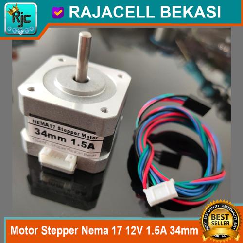 Foto Produk Motor Stepper Nema 17 12V KS42STH34-1504A 1.5A 34mm CNC 3D Printer dari RAJACELL BEKASI