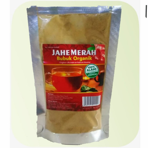 Foto Produk JAHE MERAH BUBUK ORGANIK 100% ALAMI TANPA GULA - Murni 50gr dari herbalku97