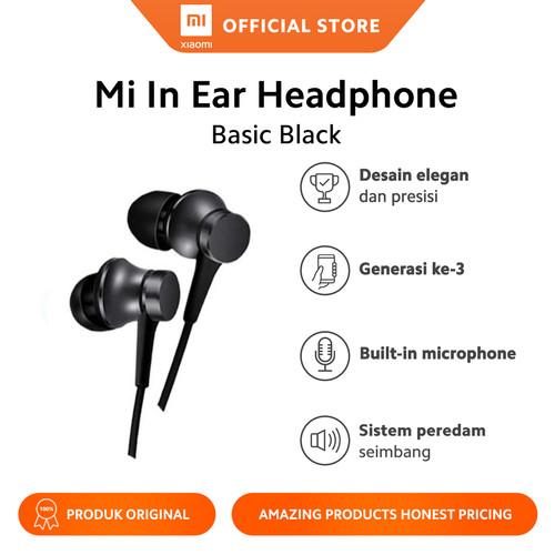 Foto Produk Mi In-Ear Headphones Basic Hitam - Garansi Official - Hitam dari Xiaomi Official Store