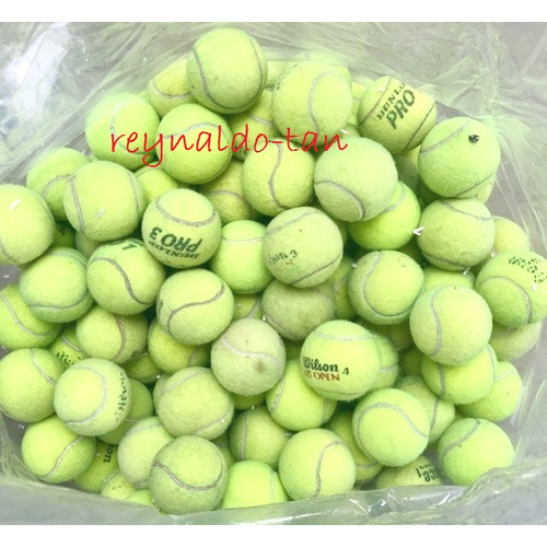 Foto Produk Bola Tenis Bekas / Bola Kasti Bekas Second Kondisi Bagus Merk Campur dari reynaldo-tan