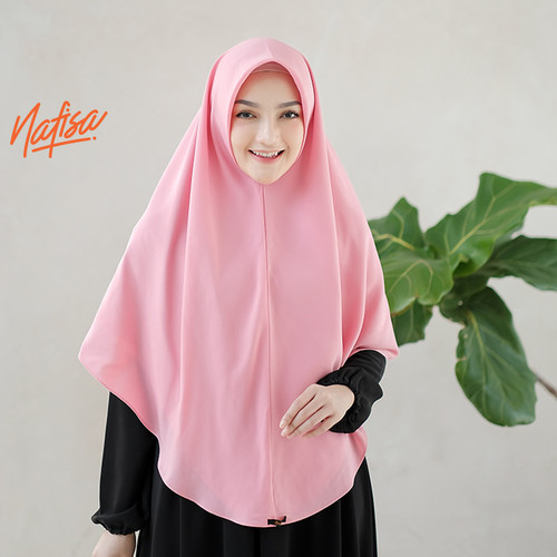 Foto Produk Nafisa Celestine - Hijab Instan Syari - Khimar Instan Premium - Dusty Pink dari Nafisa