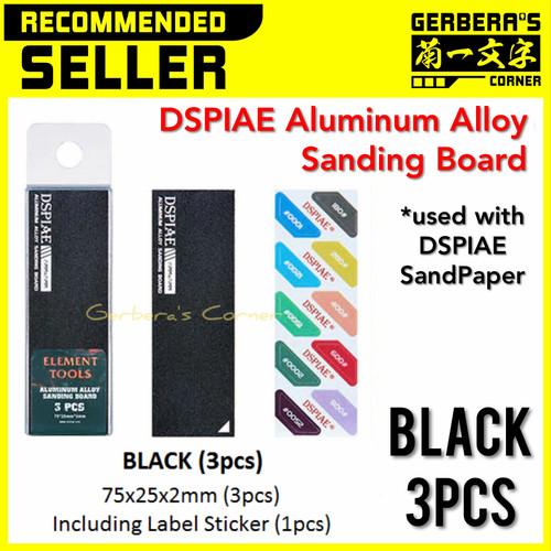 Foto Produk DSPIAE Aluminum Alloy Sanding Board BLACK 3pcs Sanding Stick Original dari Gerbera's Corner