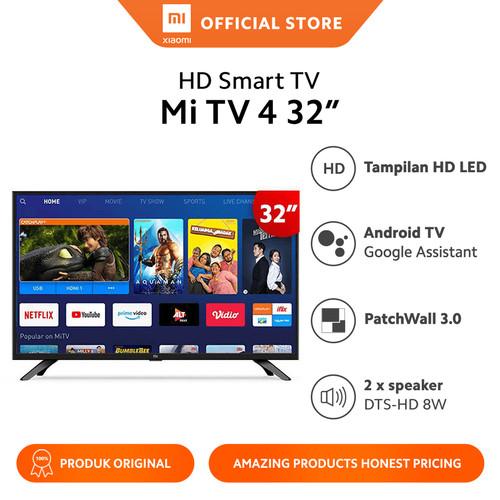 Foto Produk Xiaomi Official Mi TV 4 32 Inch Android LED Smart TV Garansi Resmi - +packing Kayu dari Xiaomi Official Store