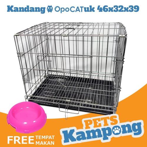 Foto Produk Perlengkapan hewan / Kandang hewan / Kandang kucing C01 - SILVER dari Pets Kampong