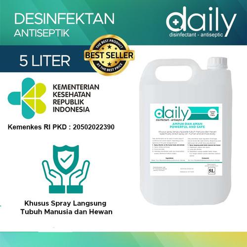 Foto Produk DESINFEKTAN DAILY REGULER DISINFEKTAN ANTISEPTIC 5 LITER READY TO USE dari Healthy Solutions Store