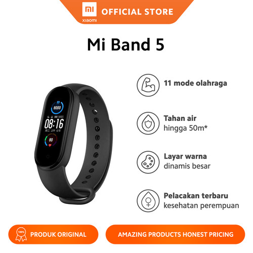 Foto Produk Xiaomi Official Miband 5 Mi Band Smartband Smartwatch Smart Band dari Xiaomi Official Store