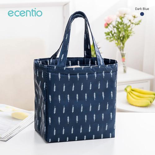 Foto Produk Ecentio Tas Bekal Pola ikan Oxford cloth Lunch Bag - Biru dari ecentio Official Store