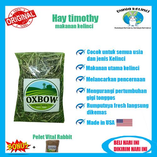 Foto Produk Makanan Kelinci Hay Timothy Oxbow/Rumput Kering/Jerami 100gr Terlaris - 50 gr dari Dunia Kelinci Depok