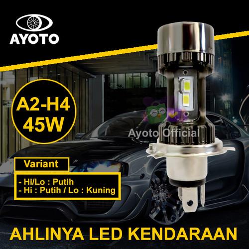 Foto Produk (2pcs) Lampu LED Mobil AYOTO A2-H4 PNP 45 Watt 10000LM - Putih/Putih dari Ayoto Official