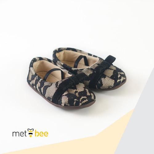 Foto Produk Sepatu Bayi - Prewalker | Metbee - Lee Lace Black - 1 dari Metbee Indonesia