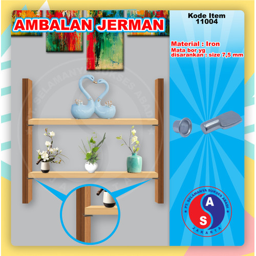 Foto Produk AMBALAN JERMAN SET AMBALAN BESI BULAT/RING RH21 PEN / 11003-11004 dari WINSTON SUKSES ABADI