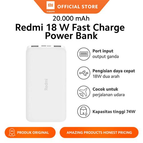 Foto Produk 20000mAh Redmi 18W Fast Charge Power Bank White - Garansi Official dari Xiaomi Official Store