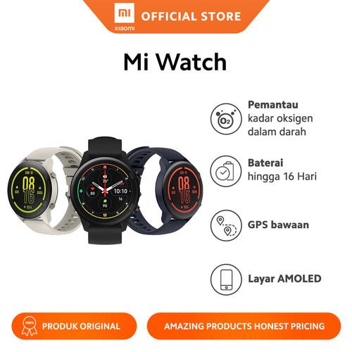 Foto Produk Xiaomi Official Mi Watch Fitness Smartwatch Miwatch Garansi Resmi - Beige dari Xiaomi Official Store